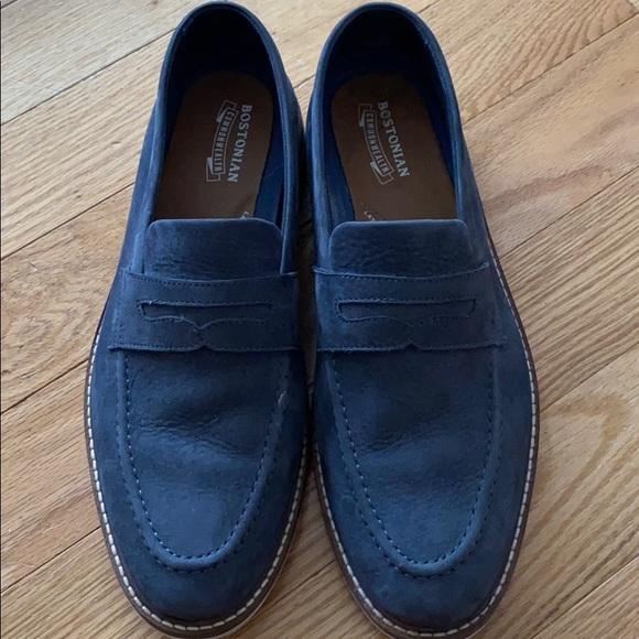 Bostonian Suede Blue Loafer Men's Size 8M